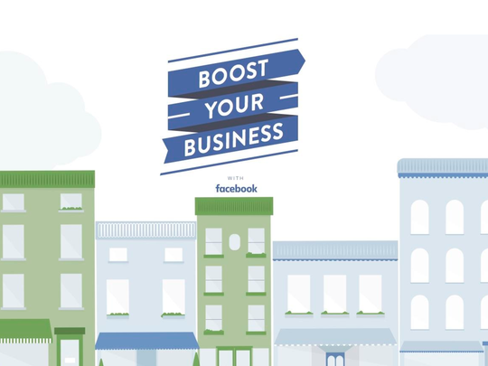"""Facebook's """"Boost Your Business"""" campaign"""