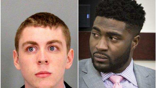 Brock Turner, left, and Cory Batey