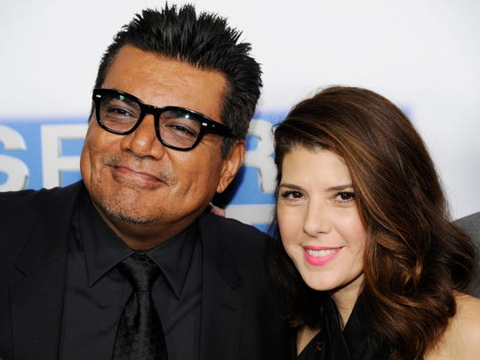 George Lopez, left, and Marisa Tomei, cast members