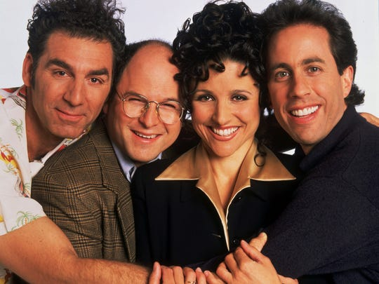 NBC: Michael Richards as Cosmo Kramer, left to right,