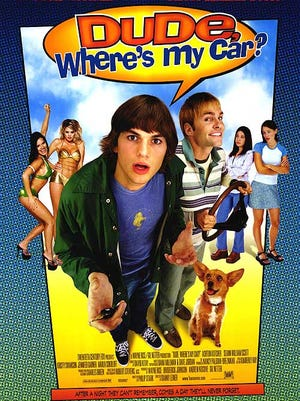 """The movie poster of """"Dude, Where's My Car?"""""""