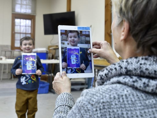File photo of previous winter Family Art Day at Peninsula