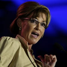 NEW ORLEANS, LA - MAY 29:  Former Alaska Gov. Sarah Palin speaks during the 2014 Republican Leadership Conference on May 29, 2014 in New Orleans, Louisiana.  Members of the Republican Party are scheduled to speak at the 2014 Republican Leadership Conference, which hosts 1,500 delegates from across the country through May 31st.  (Photo by Justin Sullivan/Getty Images)