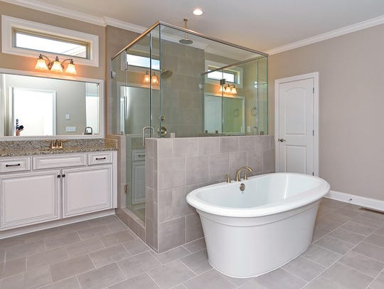Homes at Brooksbank offer luxurious spa-like bathroom
