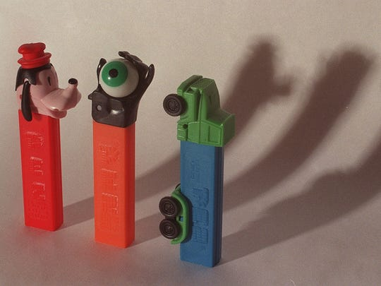 PEZ candy dispensers are common collectables. by J. Kyle Keener / Detroit Free Press 02/28/98