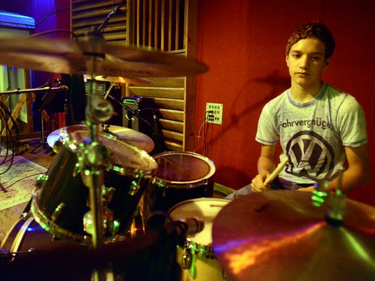 Sammy Begeson, drummer for the group Everson, will be performing with the band today at the Tennessee River Run.