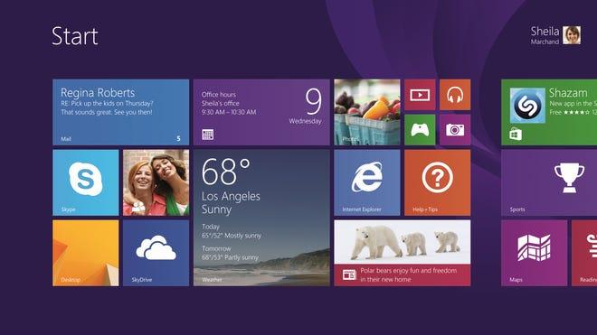 The Windows 8.1 interface.
