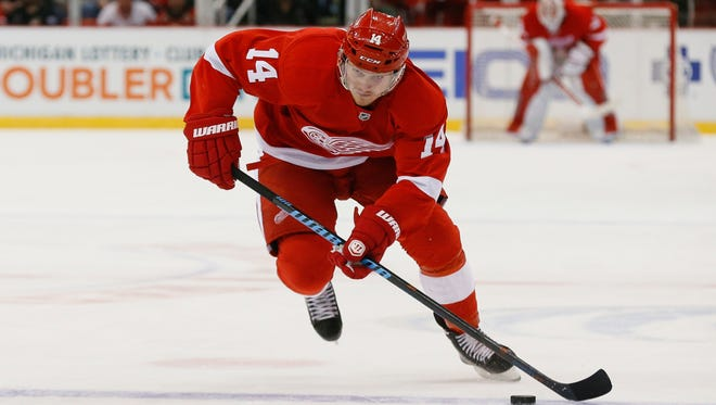 Red Wings center Gustav Nyquist