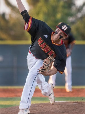 Centennial's Junior Peña is one of four Hawks on the South All-Star team for the Bob Ogas North vs. South Baseball All-Star Classic.