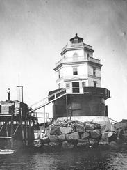 """The """"Belle of the Bay"""" Lighthouse at the outer breakwater"""