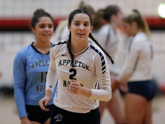 Former Appleton North standout volleyball player Katie Hoeffner (2) experienced Friday's magnitude 7 earthquake from her townhouse in Anchorage, Alaska. Hoeffner is a freshman on the University of Alaska-Anchorage women's volleyball team. Dan Powers/USA TODAY NETWORK-Wisconsin
