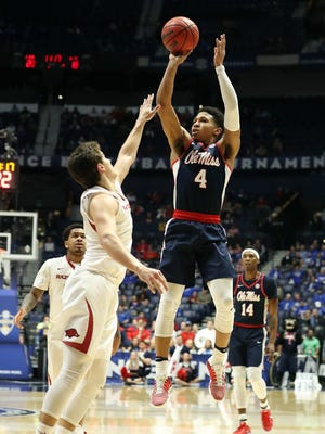 Ole Miss guard Breein Tyree will be back in his home state when the Rebels face Monmouth Tuesday night.