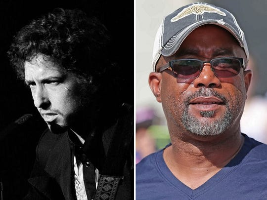 Bob Dylan (1978) and Darius Rucker.