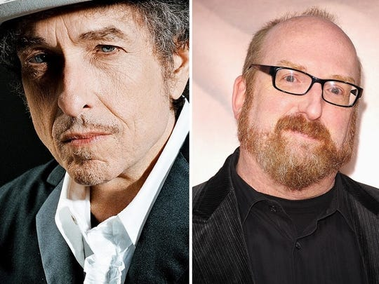 Bob Dylan and Brian Posehn.