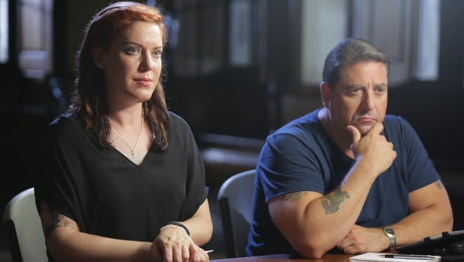 """Amy Allan and Steve DiSChiavi do their investigations separately, and come together to present their findings on """"The Dead Files."""""""