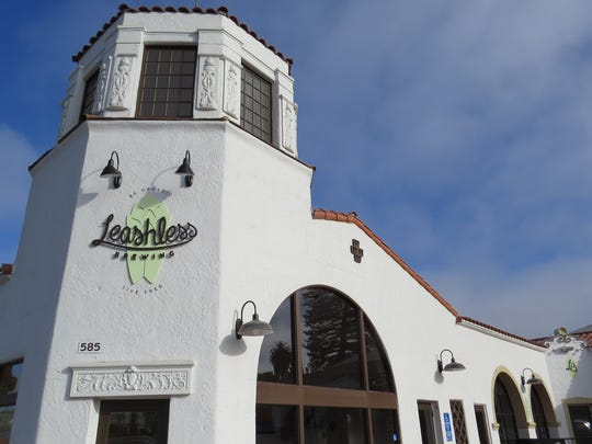 Leashless Brewing Co. is located in a 1930s-era building designed in the Spanish Colonial Revival style by Santa Paula architect Roy C. Wilson.