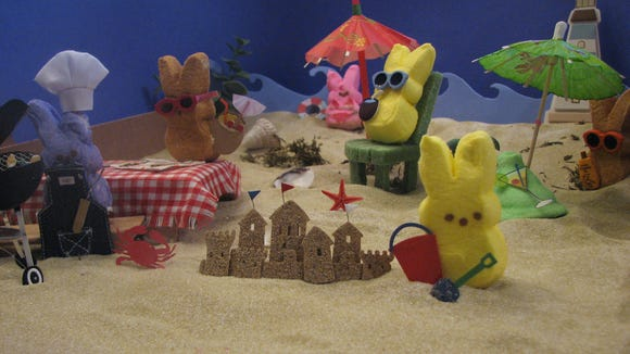 PEEPS love the beach, and apparently they love Philadelpha, too.