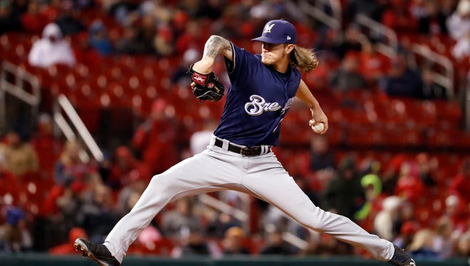 Josh Hader has 17 strikeouts in 7 2/3 innings and has given up only two hits.