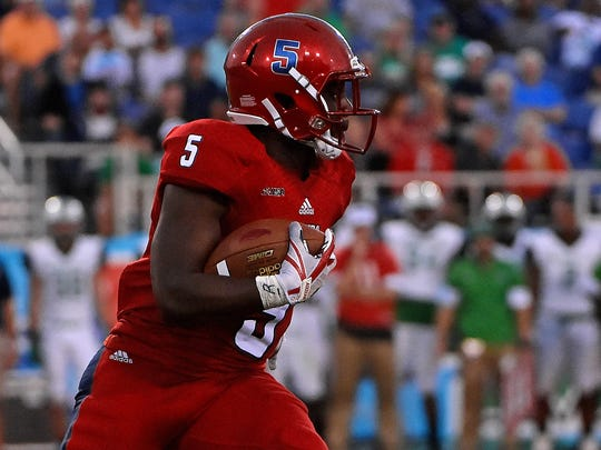 FAU running back Devin Singletary has already amassed seven rushing touchdowns this season.