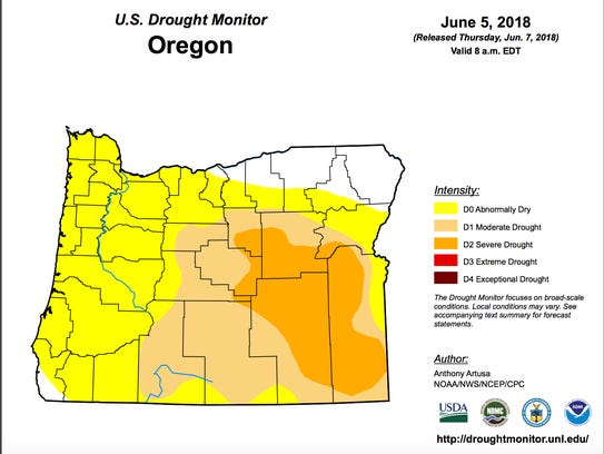 Drought and dry conditions are present across much