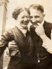 Sophie and William Papendieck share a light moment together.