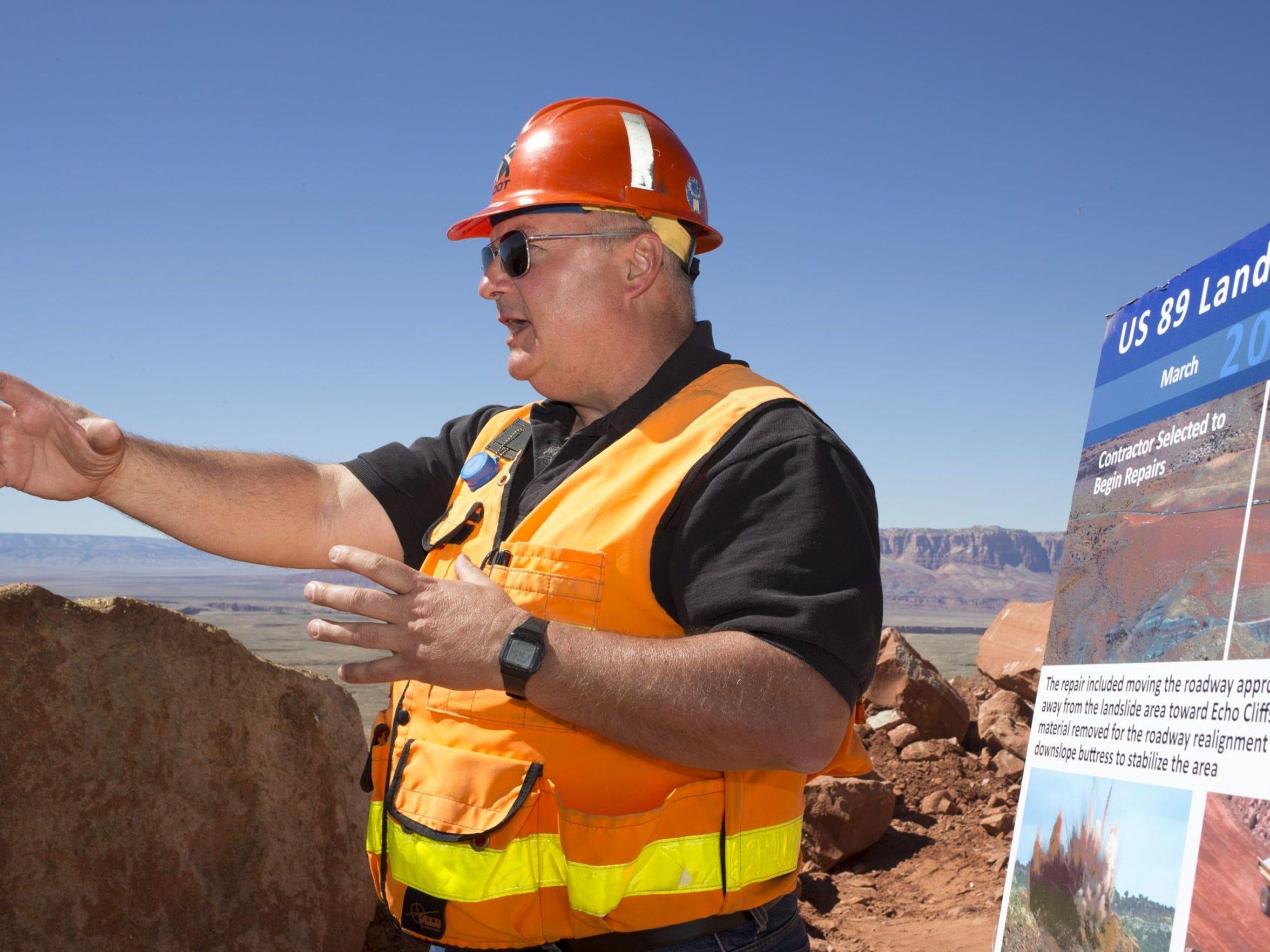 ADOT construction engineer Steve Monroe talks about