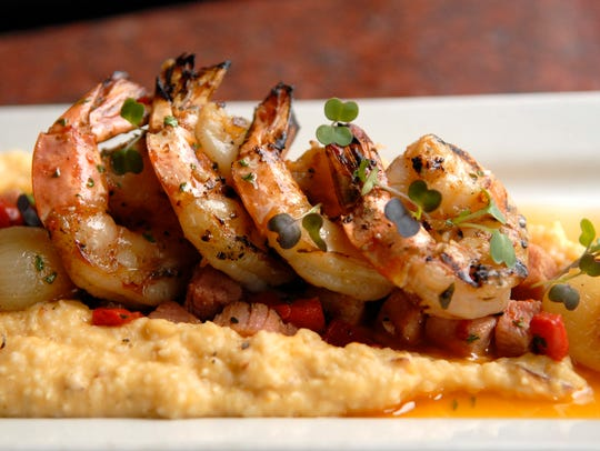 The shrimp and grits at the Red Yeti Brewing Co. in