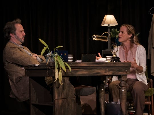 """Andrew Gall and Emily Tynan McDaniel in """"Better Strangers"""""""
