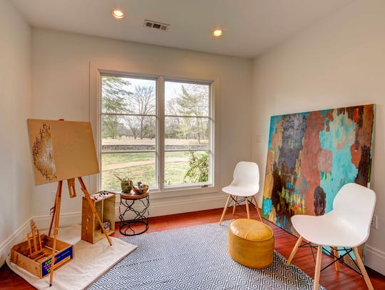 The art room at 1008 Chancery Lane.