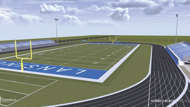 Lansing Catholic plans to construct a new football field.