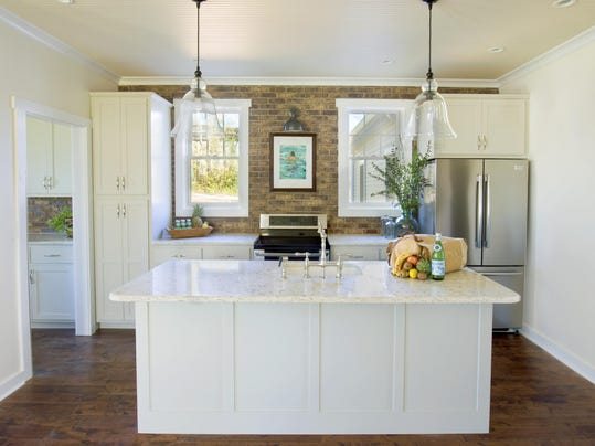 Short Mountain Cottage accent wall