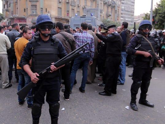 EPA EGYPT PROTEST IN CAIRO CLJ POLICE EGY