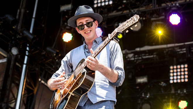 Pokey LaFarge seen during day two of Forecastle Music Festival at Waterfront Park on Saturday, July 16, 2016, in Louisville, Ky.