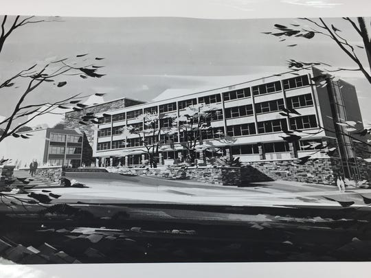 Historic photo of Upson Hall in the 1950s