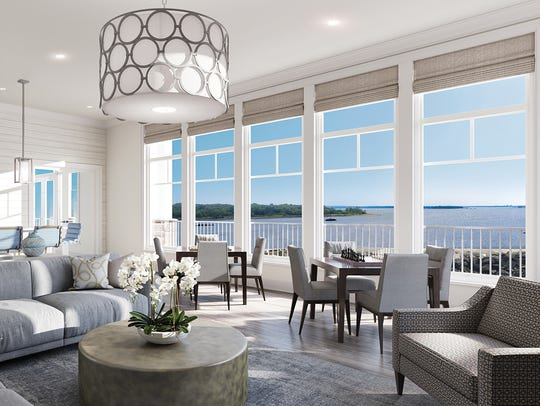 An artist rendering of a unit at WatermarkPointe