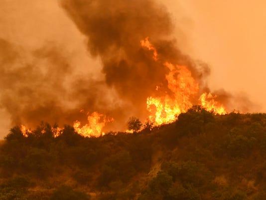 EPA USA WILDFIRES CALIFORNIA DIS FIRE USA CA