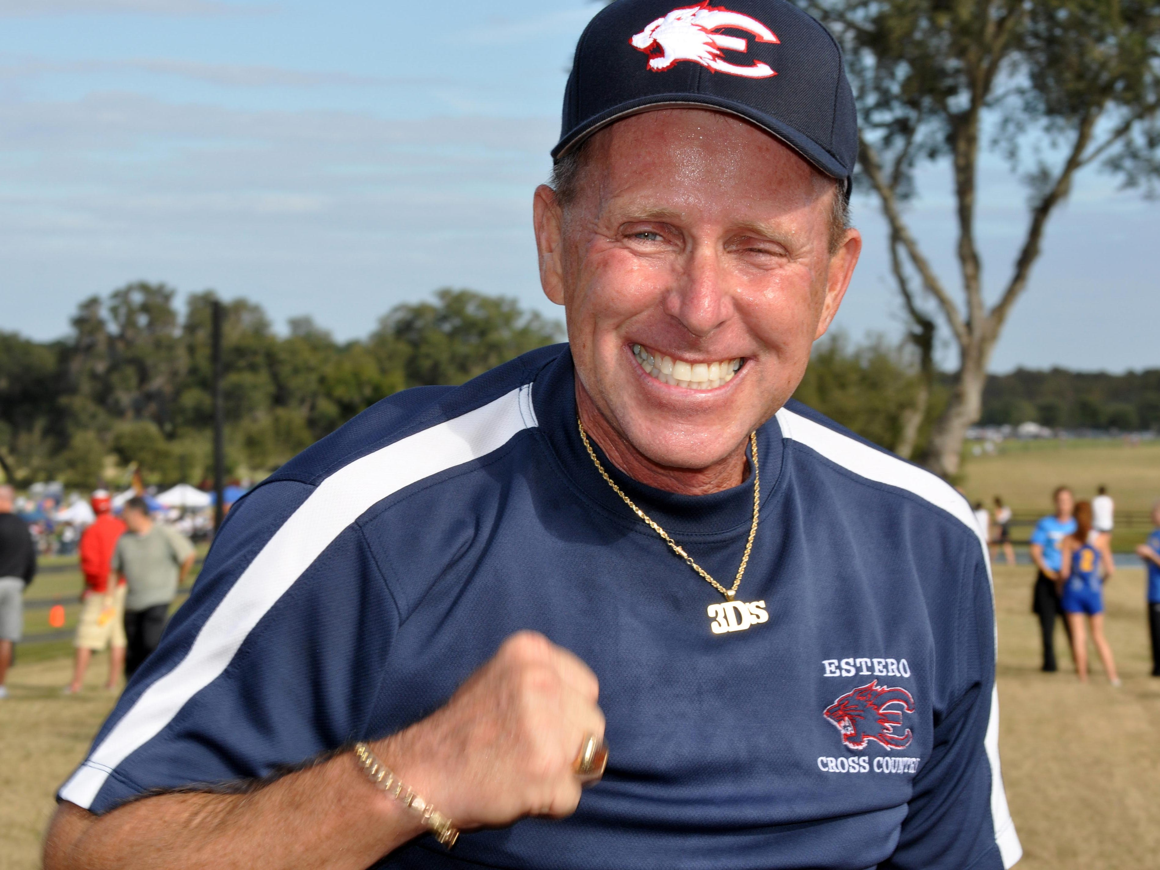 Estero athletic director Jeff Sommer has died. FILE PHOTO/THE NEWS-PRESS... Jeff Sommer, the athletic director of Estero High School who coached numerous runners to state championships, collapsed and died at the state track and field championships Saturday.