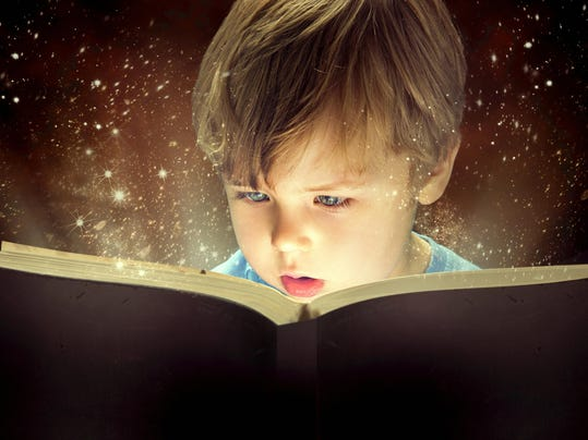 child reading stock