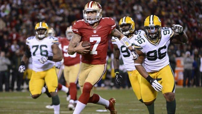 San Francisco 49ers quarterback Colin Kaepernick has been a nemesis for the Green Bay Packers defense.