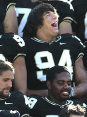 Ryan Kerrigan, No. 94, played for Purdue after graduating from Muncie Central. He hopes Purdue can make a deep playoff run this year.