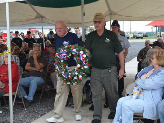 Ron Frantz and Dick Goldstine, both volunteers at the