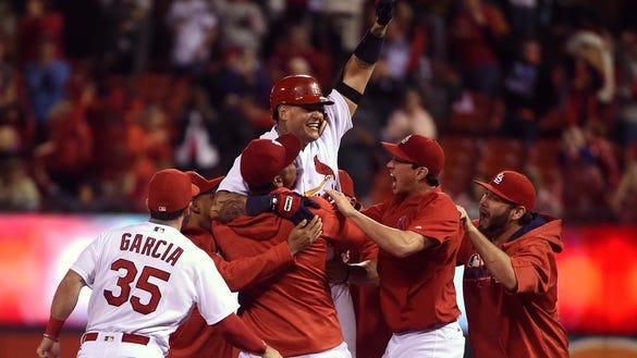USP MLB: CINCINNATI REDS AT ST. LOUIS CARDINALS S BBN USA MO