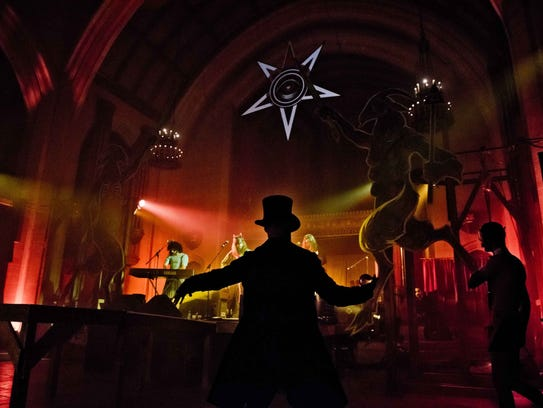 The Asylum room featured an elaborate stage setup during