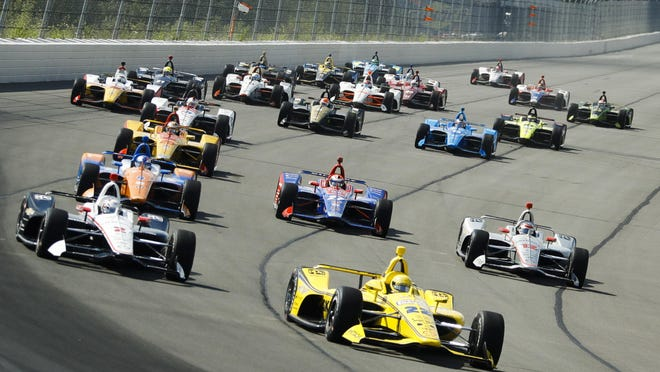 The lightning-fast IndyCars will join NASCAR's Xfinity Series for a Saturday doubleheader on Indy's road course Saturday.