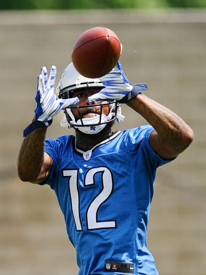 Lions receiver Jeremy Kerley had a solid outing during the one-on-one and team portions of Monday's practice.