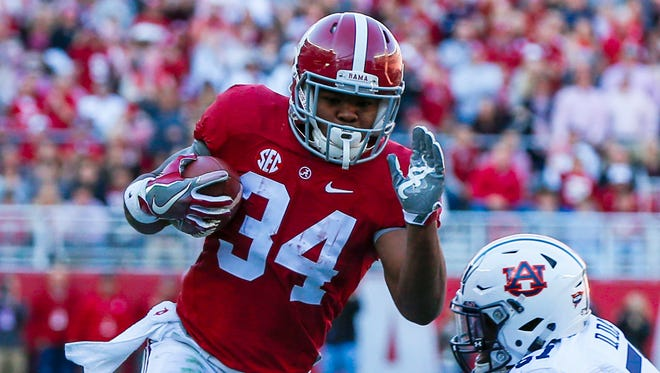 Damien Harris and Alabama have been running away from the competition this season.