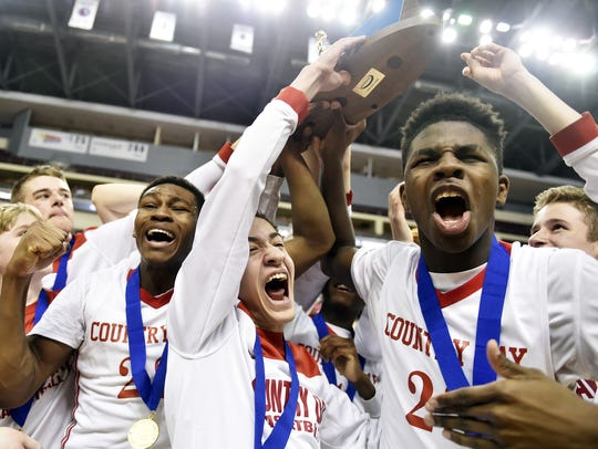 The York Country Day boys' basketball team won its