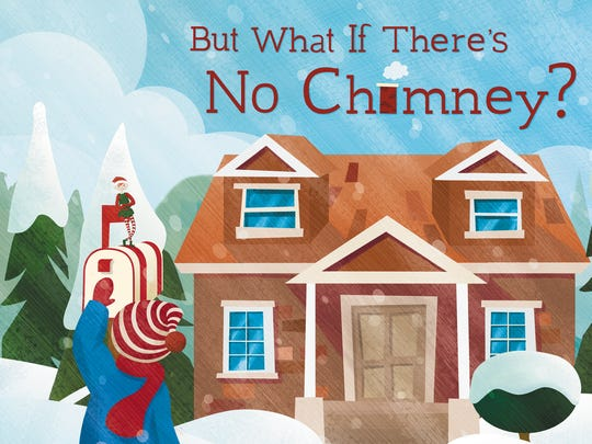 What if There's No Chimney? by Emily Weisner Thompson and Mandy Hussey, illustrated by Kate Lampe (Indiana University Press)