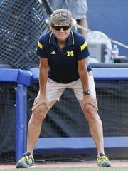 Michigan coach Carol Hutchins