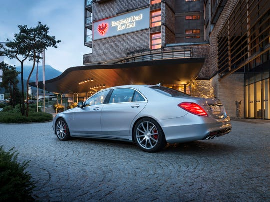 Lines of the 2014 Mercedes-Benz S63 AMG recall grand sedans of the 1930s, '40s and '50s, all while sitting atop 20-inch alloys.